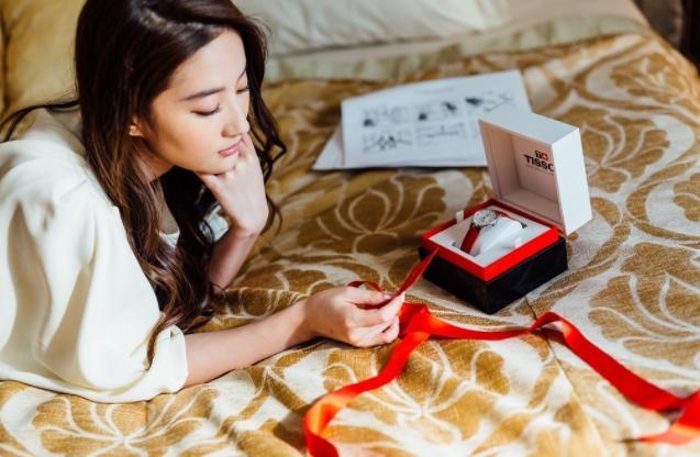 刘天仙同款:Tissot天梭杜鲁尔机械皮带女表T0992071611800 特价$465,约3115元