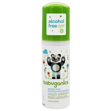 【美国Babyhaven】:Babyganics 甘尼克宝贝 泡沫洗手液 无酒精 无香型 1 69盎司(50毫升)