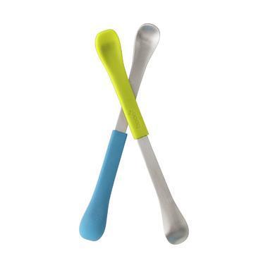 【美国Babyhaven】:Boon 2合1喂养勺 2对装 绿色 蓝色