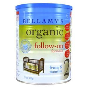 【全场满79澳免邮 限重2.5kg】Bellamy&#039s 贝拉米 有机婴幼儿奶粉2段 900g