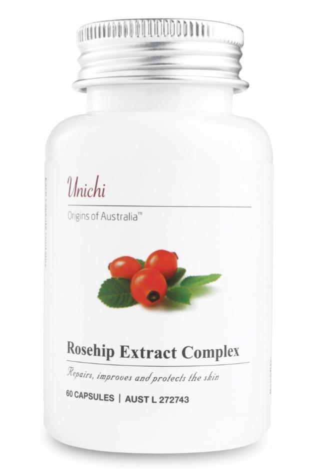 Unichi 玫瑰果精华胶囊 60粒 美白/修复/抗黑色素