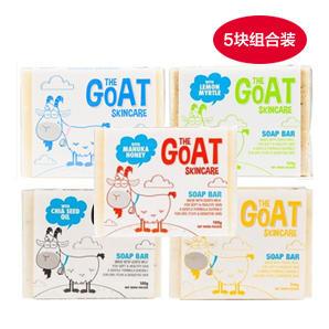 【全场满88澳免邮 限重3kg】【5块装 超值低价】The Goat Soap 纯天然手工皂羊奶皂