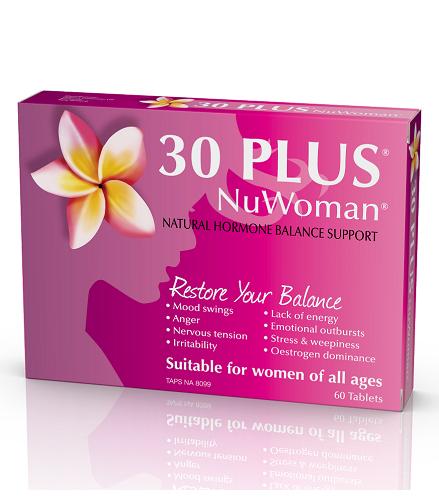 【新西兰PD】【新西兰药房销售冠军】30 Plus NuWoman 女性荷尔蒙补充剂 60片 仅需NZ$28 4 约¥135