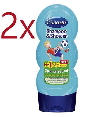 【德国BA】Bübchen 宝比珊男孩儿童洗发水 沐浴露 二合一 无硅油 买一送一 2x230ml