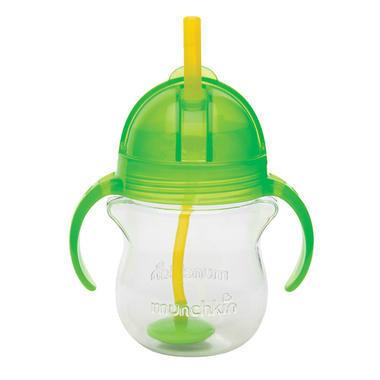 Munchkin 麦肯齐 满趣健 婴儿防咬防漏重力吸管杯(绿色)207ml
