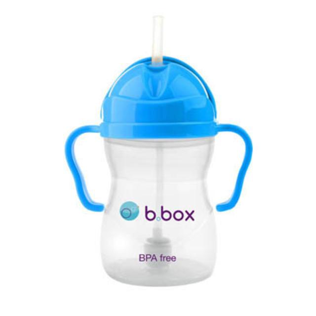 B.box 婴幼儿重力球吸管杯 防漏 240ml 深蓝色 (6个月以上)
