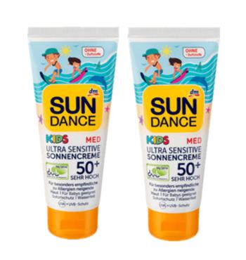 【德国BA】dm Sundance 儿童医学抗敏防晒霜  LSF50+ 100ml 买一送一