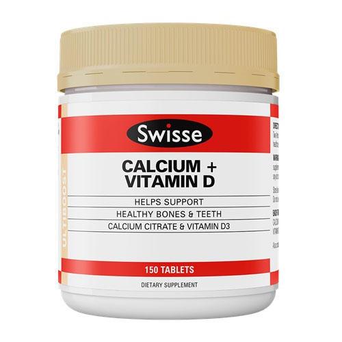 【新西兰PD】【爆款】Swisse 钙+维生素D片(成人补钙)150片 仅需NZ$24 5 约¥116