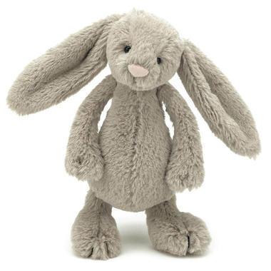 【促销特价】Jellycat 超柔软毛绒邦尼兔 棕灰色 (小号 18cm)