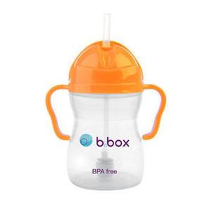 B box 婴幼儿重力球吸管杯 防漏 240ml 限量版 荧光橙色 (6个月以上)