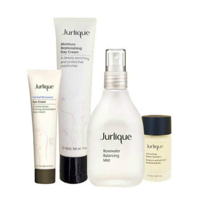 Jurlique 经典肌肤护理套装(眼霜15ml +日霜40ml +精华10ml +花卉水100ml)送化妆包