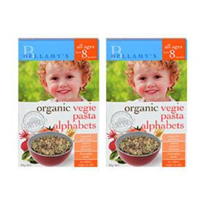 【组合装】Bellamy& 039s 贝拉米 婴幼儿辅食有机蔬菜字母意面 200g2