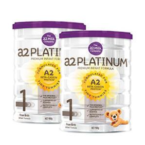 【免邮套装】A2 白金系列1段婴儿配方奶粉 900g 罐(0-6个月)2