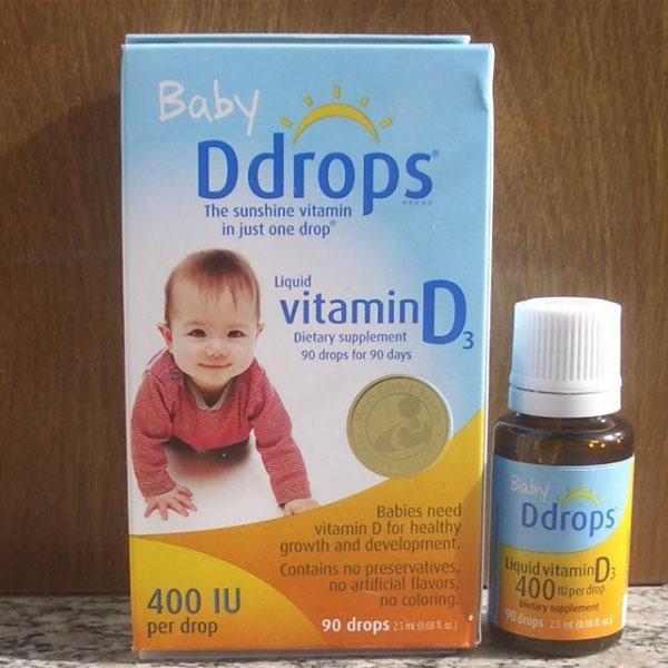 Ddrops 婴儿维生素D3滴剂 90滴 400IU *4瓶 折后包邮好价$53 96,到手约350元