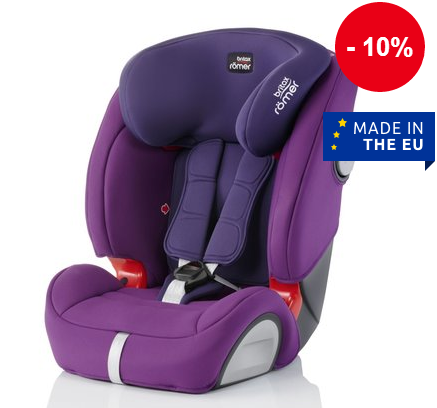 Britax Romer宝得适Evolva 1-2-3 SL SICT 儿童汽车安全座椅带Isofix 秒杀折后€171 1+€52 9
