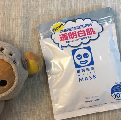 石泽研究所 透明白肌豆乳保湿美白晒后修复面膜 10片 补货648日元(约¥38)