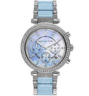 Michael Kors Parker MK6138镶钻施华洛世奇水晶石英女表 折后特价$99,约700元