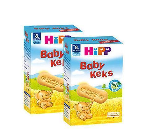 【德国BA】Hipp 喜宝 有机婴儿磨牙饼干/磨牙棒 8月+ 150g 两盒装