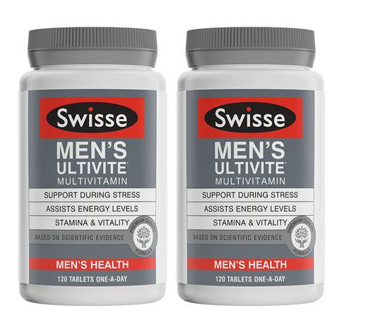 【2件包邮装】Swisse 男士复合维生素片 2x120片/瓶 优惠价格:328元