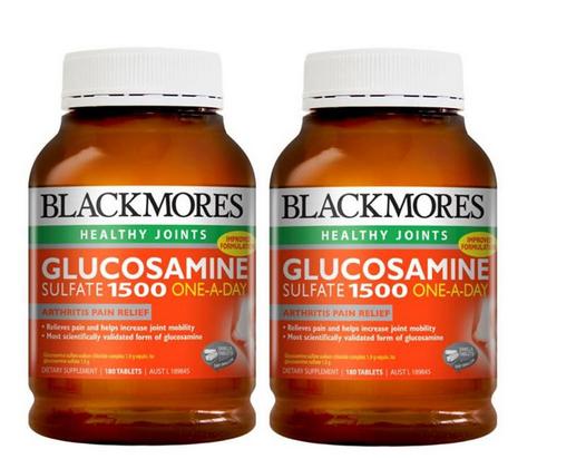 【2件包邮装】Blackmores 澳佳宝 1500mg 维骨力关节灵 2x180片/瓶 优惠价格:339元