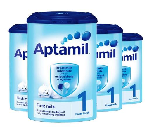 【4件包邮装】Aptamil 英国爱他美 婴儿配方奶粉1段 4x900g/罐(0-6个月的宝宝) 商品价格:709元