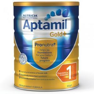 【下单立减4澳,最高立减20澳】【断货王 限购2件】Aptamil 爱他美 金装1段婴幼儿奶粉 900g