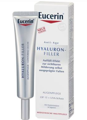 【德国DC】Eucerin 优色林 玻尿酸保湿祛皱抗衰老眼霜 15ml SPF15 €21.99 约(¥171.52)