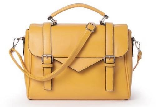 秒杀特价:ANNE WEYBURN女士剑桥包 黄色 特价€32.99,约258元直邮到手