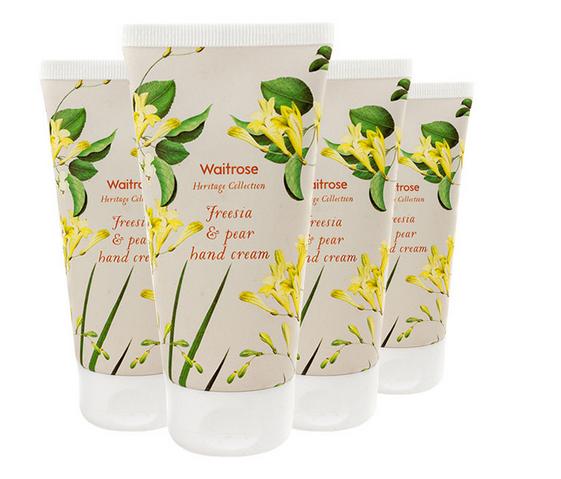 【4件包邮装】Waitrose 经典系列 小苍兰与梨子味护手霜 4x75ml/支 优惠价格:85元
