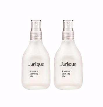 【包邮包税+5钮】Jurlique 茱莉蔻 玫瑰衡肤花卉水 美白补水洁面 100ml 2瓶装