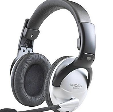 托福GRE指定型号~ Koss 高斯 SB45 封闭式头戴多媒体耳机165.14元