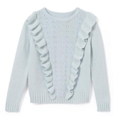 【法国LR】ABCD R女童荷叶边针织套头衫(3-12岁)仅需258元!