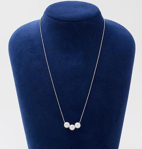 【松屋】7mm阿古屋海水珍珠项链 45cm SV链高级品 8856日元  折合人民币约566.8元