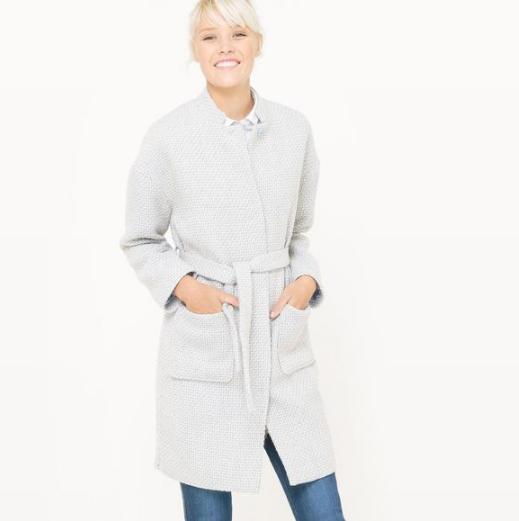 【法国LR】R edition女士中长款束带格子大衣2包邮特价468元,单件到手仅需234元!