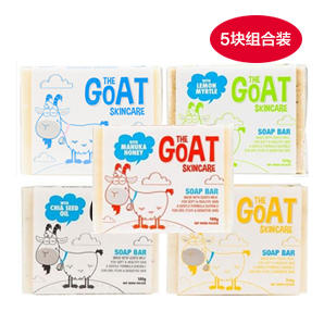 【全场满99澳免邮 限重3kg】【5块装 超值低价】The Goat Soap 纯天然手工皂羊奶皂