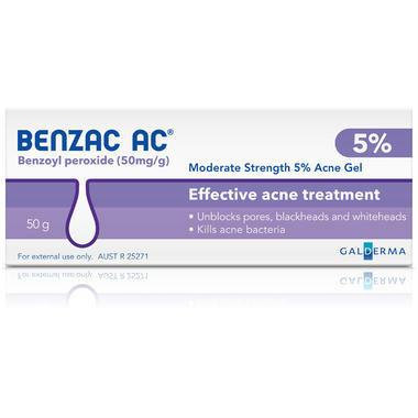 【澳洲PO药房】Benzac 温和控油去痘5%凝胶 50g