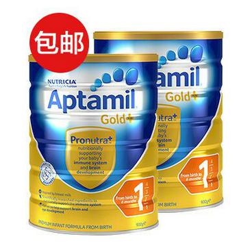【2罐包邮装】Aptamil 爱他美 金装1段婴幼儿奶粉 900g X2 特价AU$67.99,包邮到手约356元