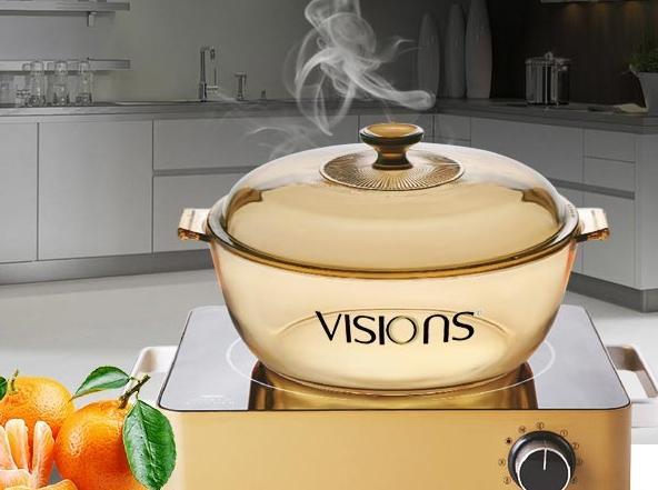 镇店之宝,VISIONS 康宁 VHS-220-GD/CN电陶炉+4L透明锅组合 ¥798包邮