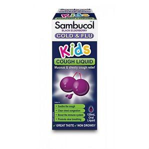 【满88澳免邮,限重3KG】Sambucol 儿童黑接骨木糖浆(免疫调节 抗感)120ml