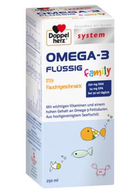 【德国DC】Doppelherz 双心 儿童深海鱼油营养液 250ml