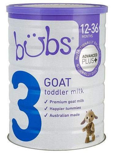 【满88澳免邮,限重3KG】Bubs 贝儿 婴幼儿羊奶粉3段 800g