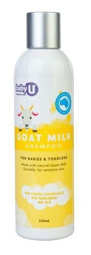 【满88澳免邮,限重3KG】Baby U 婴儿羊奶洗发露 250ml(清洁)