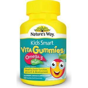 【全场满89澳免邮,限重2 5KG】Nature& 039s Way 儿童Omega-3+多维生素胶囊 50粒