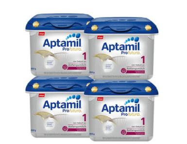 【德国DC】【4盒组合装】Aptamil 爱他美 Profutura 白金版1段婴幼儿奶粉 800g4盒
