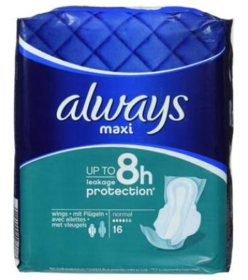 【德国DC】Always 4滴水 带护翼棉质感日用卫生巾 16片 独家干爽科技 持久长达8小时