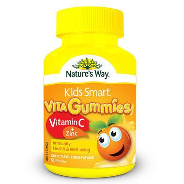 【澳洲PO药房】Nature& 039s Way 佳思敏 Kids Smart儿童维生素C+锌软糖 60粒