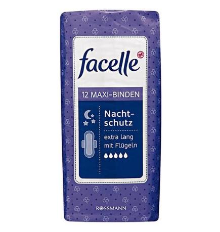 【德国BA】facelle 菲思乐 5滴水加长型280mm夜用带护翼卫生巾 亲肤干爽