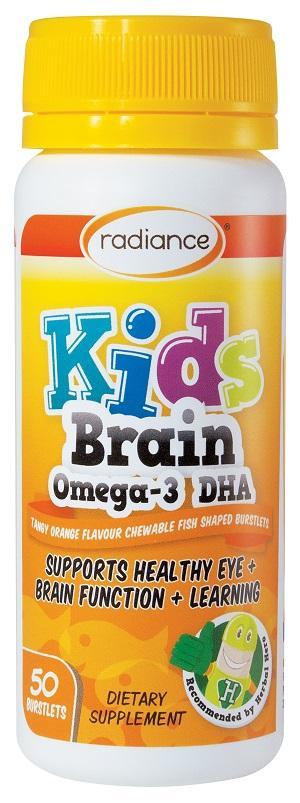 【新西兰PD】【爆款】Radiance 儿童Omega-3 DHA补脑软胶囊 50粒 仅需NZ$18.3/约¥86