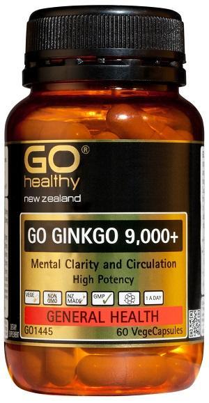 【新西兰PD】【爆款】GO Healthy 高之源 银杏精华胶囊 9000+ 60粒 仅需NZ$24.9/约¥117