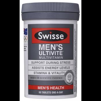 【满88澳免邮,满116澳再减6澳】专为男士设计 Swisse 男性活力复合维生素 提高抵抗力 60片